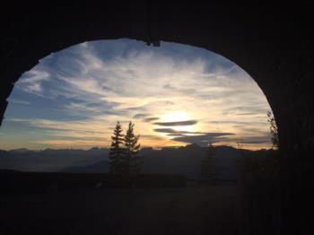 Panorama uscendo dalla galleria che porta allo Zoncolan